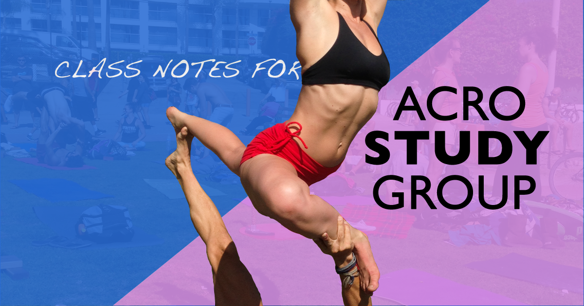 Class Notes for Acro Study Group