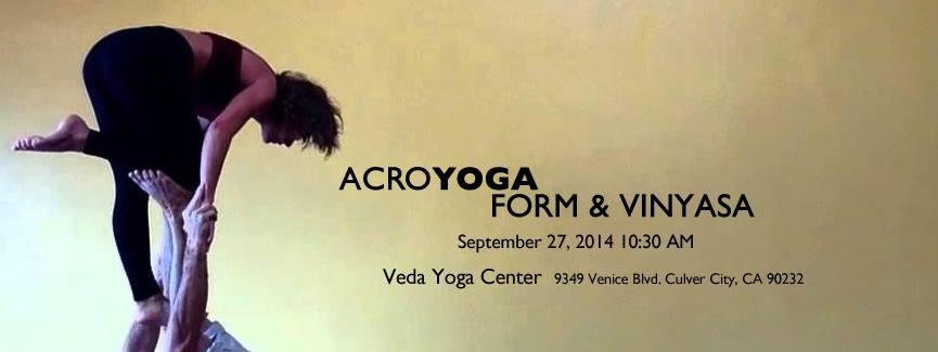 AcroYoga : Form & Vinyasa September 27, 2014