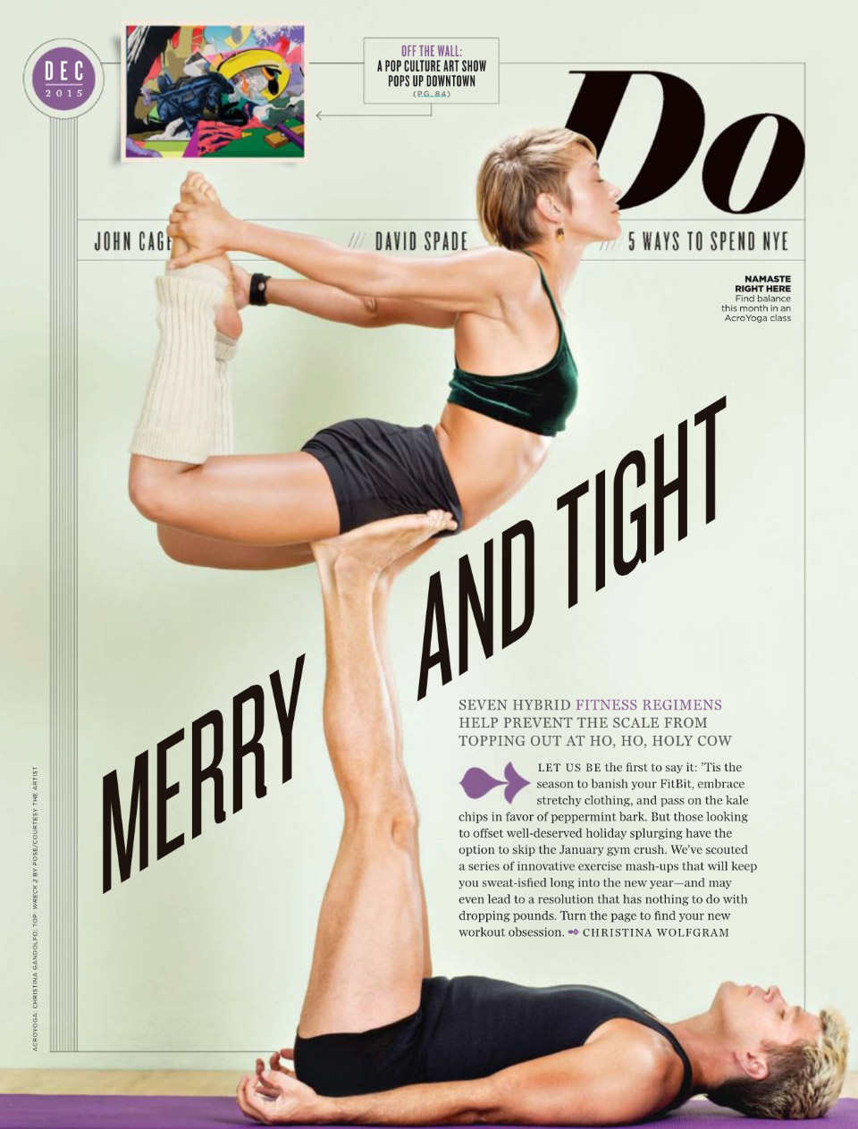 AcroYoga in LA Magazine - December 2015 - Ashley Witham & Chris Filkins